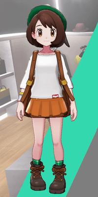 Pokemon Sword and Shield - Wedgehurst Boutique Miniskirt Orange