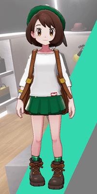 Pokemon Sword and Shield - Wedgehurst Boutique Miniskirt Green