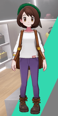 Pokemon Sword and Shield - Wedgehurst Boutique Skinny Trousers Purple