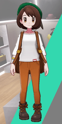 Pokemon Sword and Shield - Wedgehurst Boutique Skinny Trousers Orange