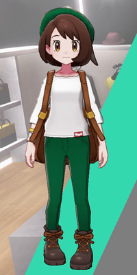 Pokemon Sword and Shield - Wedgehurst Boutique Skinny Trousers Green