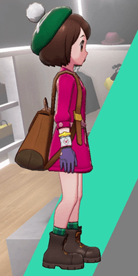 Pokemon Sword and Shield - Wedgehurst Boutique Simple Gloves Purple Side