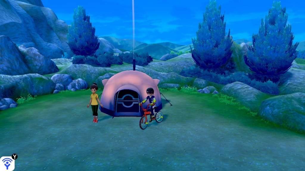 Pokemon Sword and Shield - Route 3 Pokemon Camp