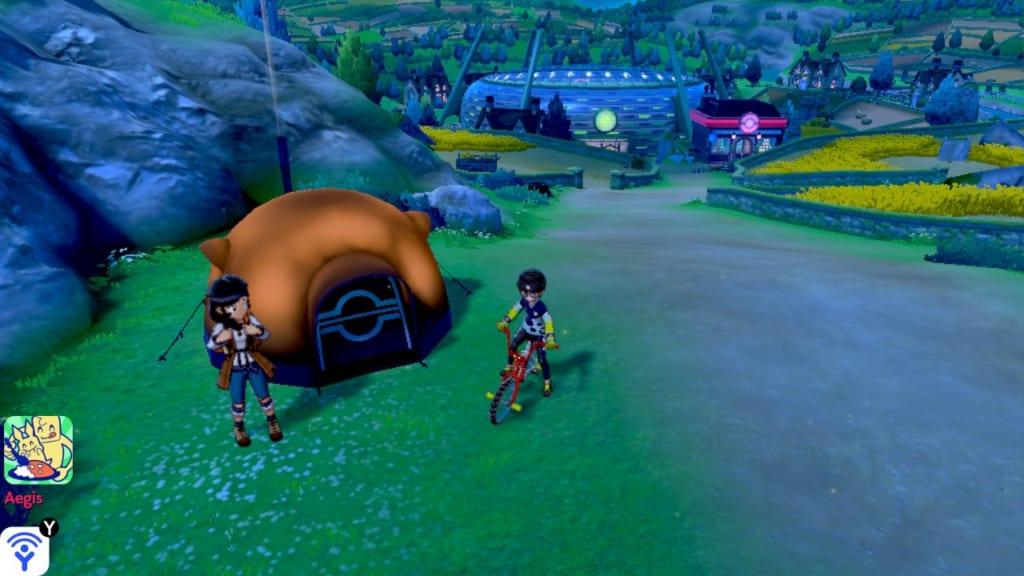 Pokemon Sword and Shield - Route 4 Pokemon Camp