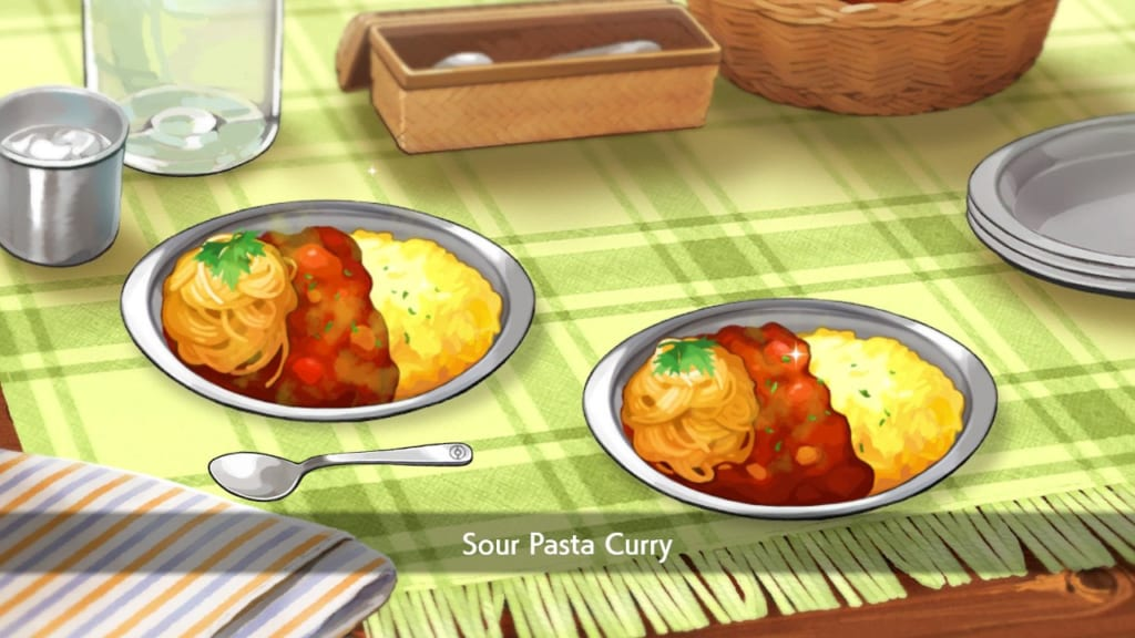 Pokemon Sword and Shield - Sour Pasta Curry
