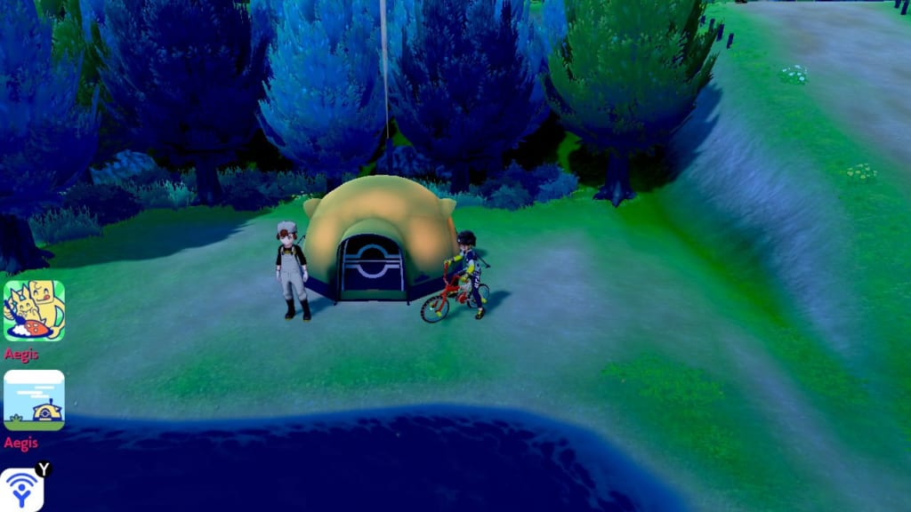 Pokemon Sword and Shield - Route 5 Pokemon Camp