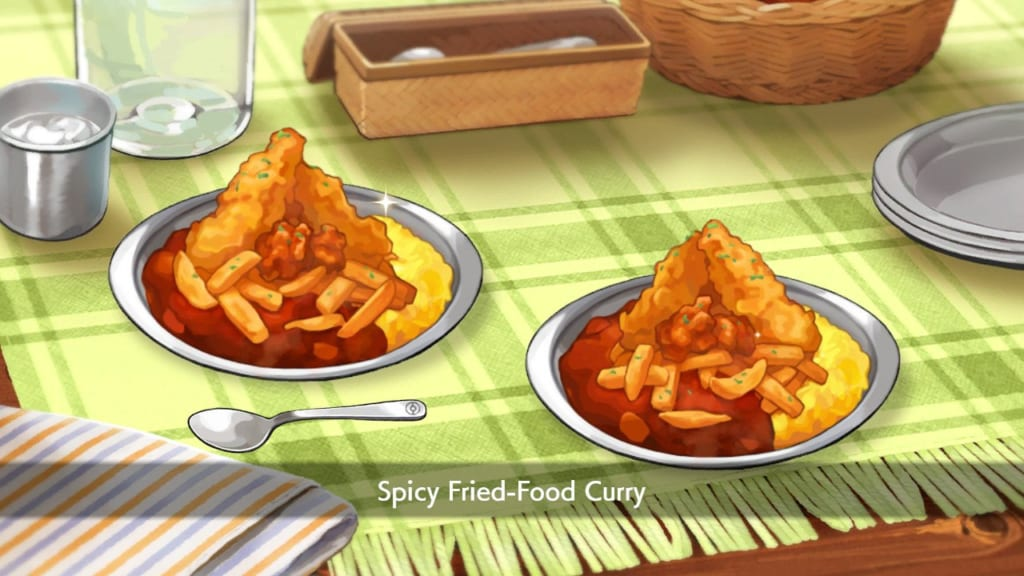 Pokemon Sword and Shield - Spicy Fried-Food Curry