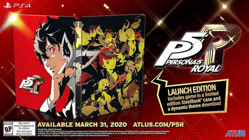 Persona 5 Royal - Western Release Steelbook Launch Edition