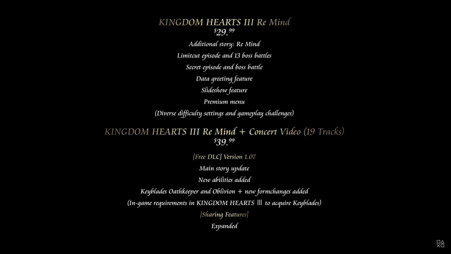 Kingdom Hearts 3 Re:Mind - DLC Versions Announced