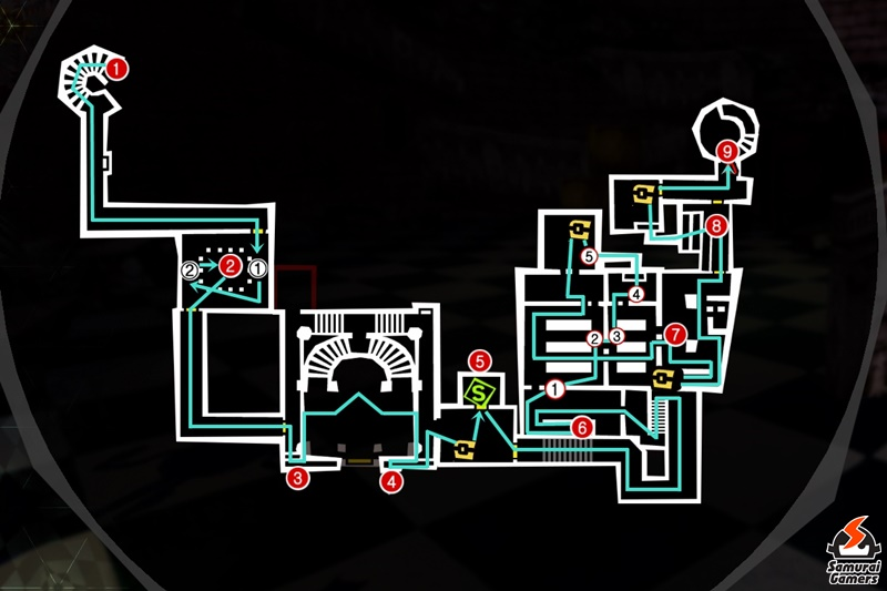 Persona 5 Royal - Kamoshida Palace West and East Building Second Floor 4/20