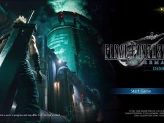 Final Fantasy 7 Remake - Demo Menu