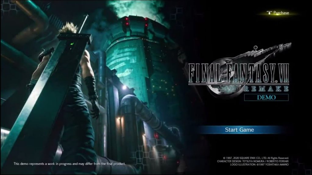 Final Fantasy 7 Remake - Playable Demo Secret Ending