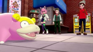 Pokemon Sword and Shield - Wedgehurst Station with Slowpoke and Klara