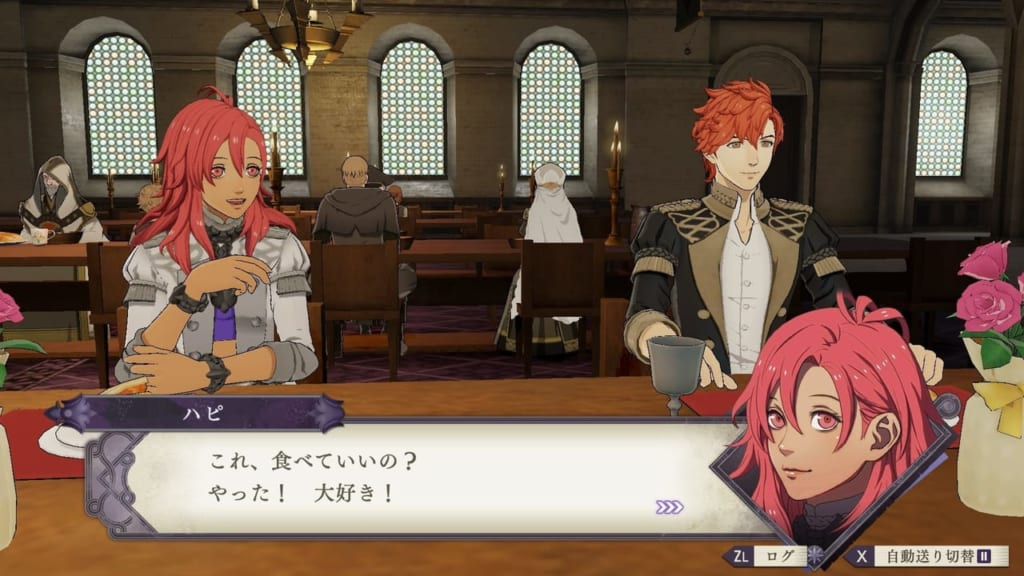 Fire Emblem Three Houses - Dining with Hapi and Sylvain