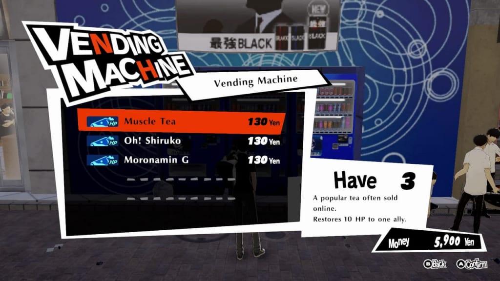 Persona 5 Strikers - Shibuya Central Street Vending Machine
