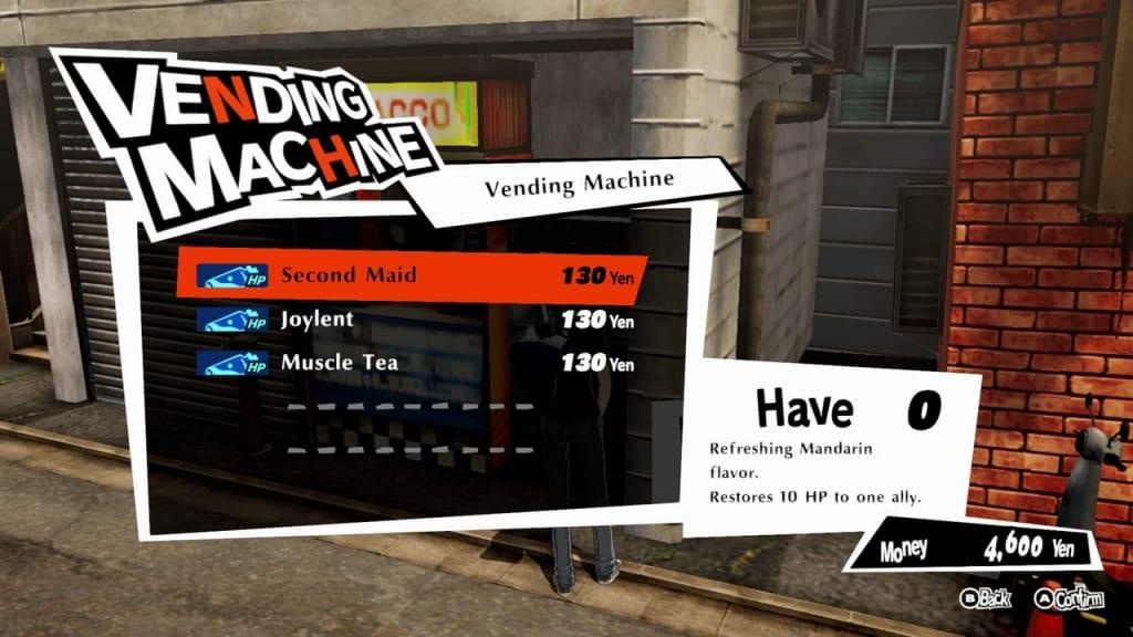 Persona 5 Strikers - Yongen-jaya Batting Center Vending Machine