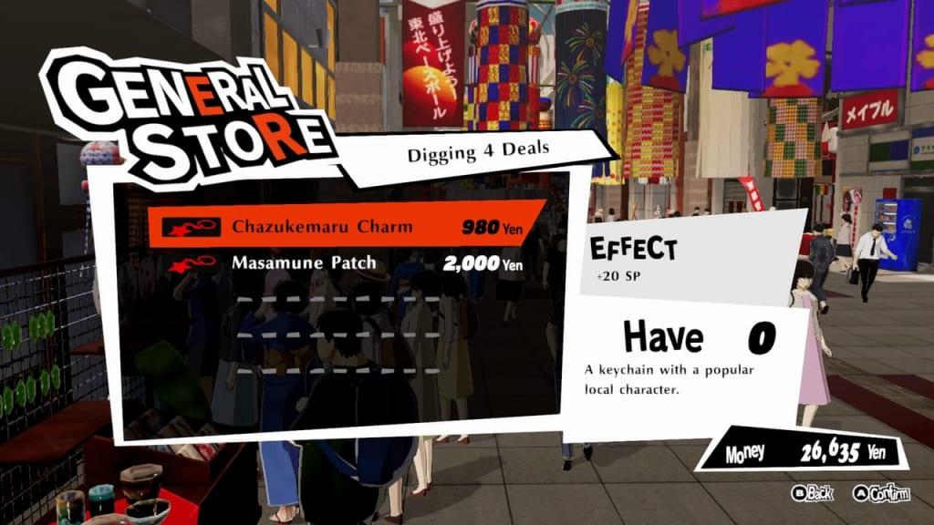 Persona 5 Strikers - Sendai Arcade City Digging 4 Deals