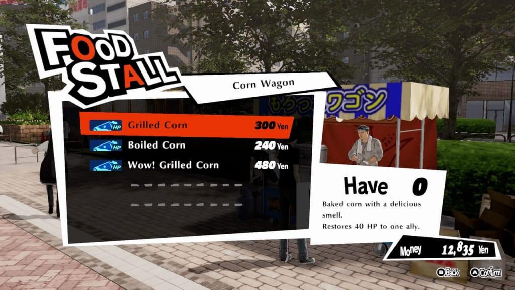 Persona 5 Strikers - Sapporo Odori Park Corn Wagon