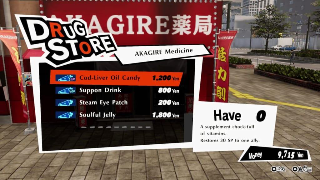 Persona 5 Strikers - Sapporo Suzushino Akagire Medicine