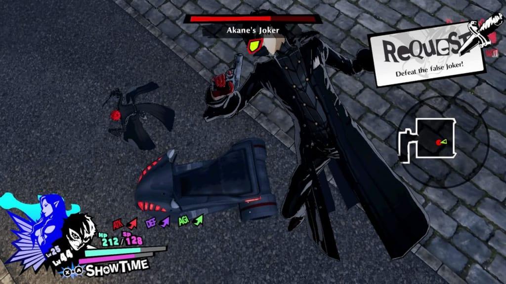 Persona 5 Strikers - Kyoto Jail King Monarch Shadow Akane Hasegawa Akane's Joker Use Terrain Gimmick Scooter