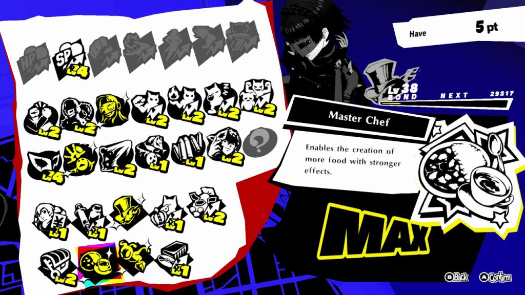 Persona 5 Strikers - Master Chef Max Bond Skill