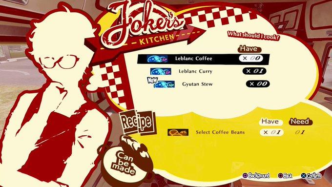 Persona 5 Strikers - Joker's Kitchen Guide