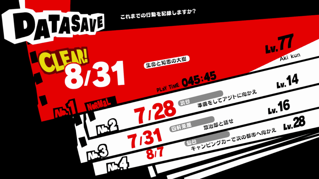 Persona 5 Strikers - Post-Game Features