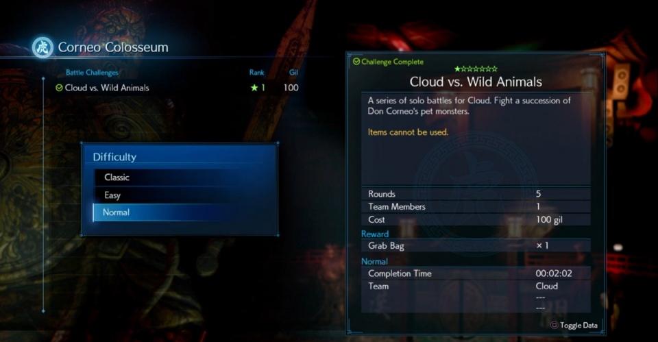 FF7 Remake - Corneo Colosseum Battle Challenges Guide
