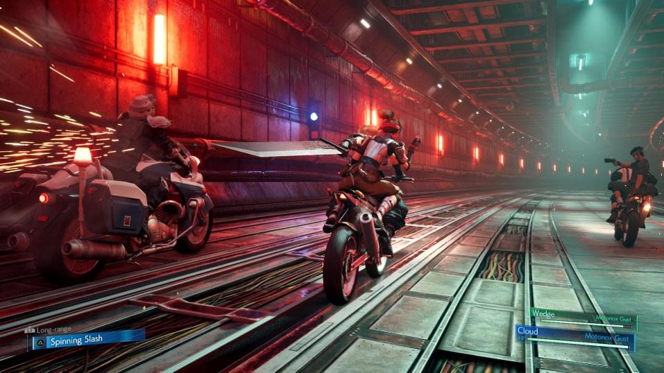 Final Fantasy 7 Remake - Motorbike Mini Game