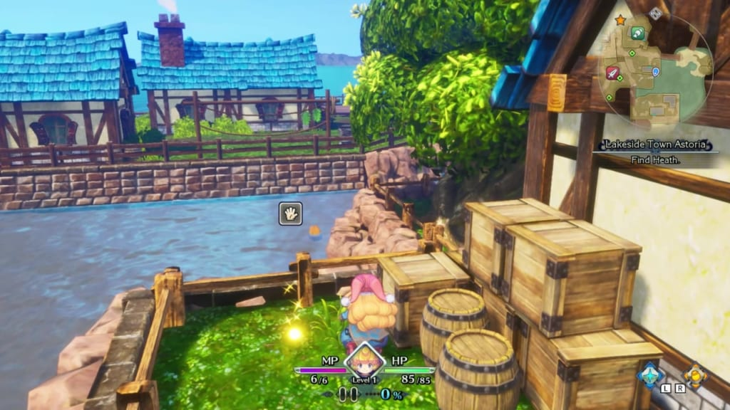 Trials of Mana Remake - Prologue Chapter: Charlotte - Lakeside Town Astoria - Orb Location 12