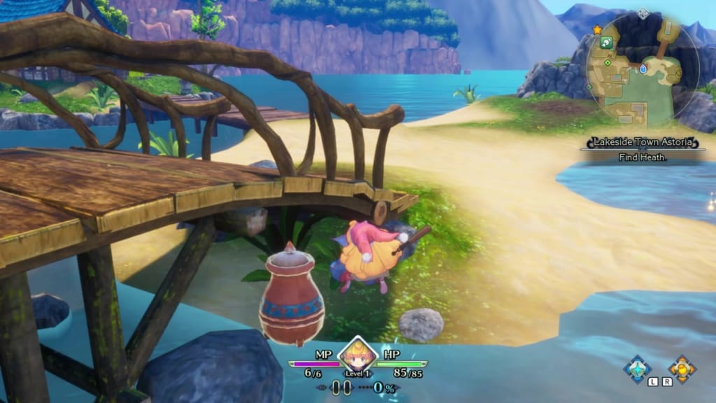 Trials of Mana Remake - Prologue Chapter: Charlotte - Lakeside Town Astoria - Vase Location 3