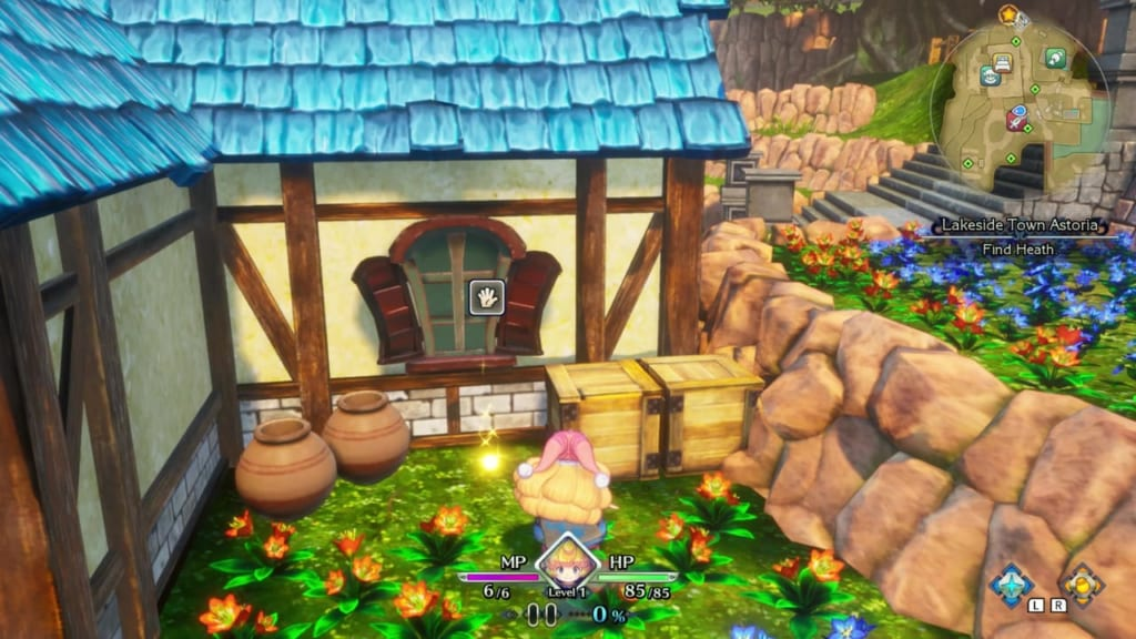 Trials of Mana Remake - Prologue Chapter: Charlotte - Lakeside Town Astoria - Orb Location 16