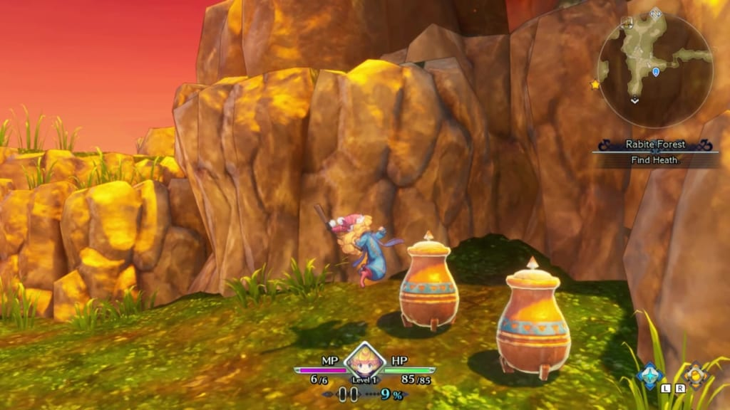 Trials of Mana Remake - Prologue Chapter: Charlotte - Rabite Forest - Vase Location 5