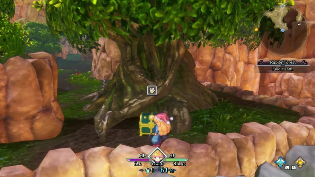 Trials of Mana Remake - Prologue Chapter: Charlotte - Rabite Forest - Chest Location 4