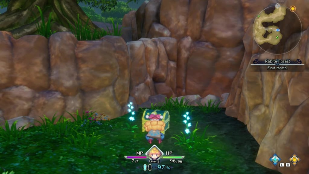 Trials of Mana Remake - Prologue Chapter: Charlotte - Rabite Forest - Chest Location 5