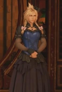 FF7 Remake - Cloud Black and Blue Dress