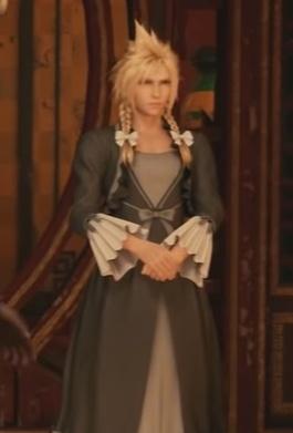 FF7 Remake - Cloud Plain Black Dress