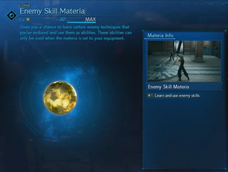 FF7 Remake - Enemy Skill Materia