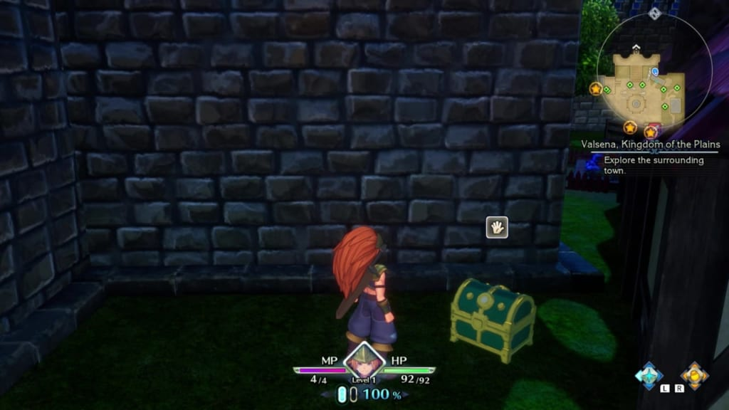 Trials of Mana Remake - Prologue Chapter: Duran - Kingdom of Valsena - Chest Location 2