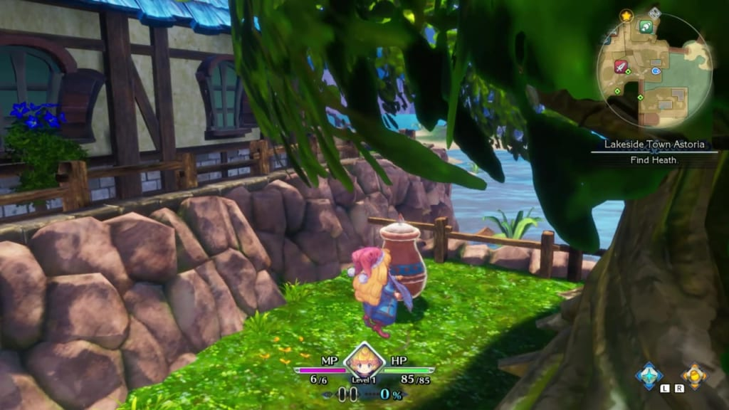 Trials of Mana Remake - Prologue Chapter: Charlotte - Lakeside Town Astoria - Vase Location 2