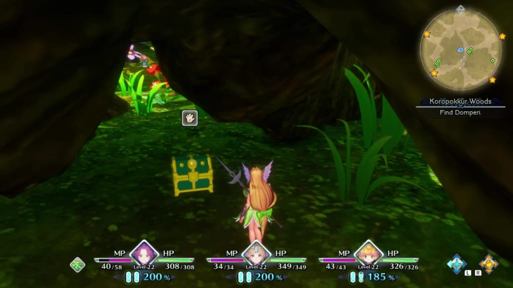 Trials of Mana - Chapter 2: Koropokkur Woods - Chest Location 1