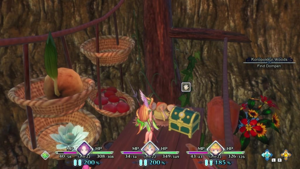 Trials of Mana - Chapter 2: Koropokkur Woods - Chest Location 3