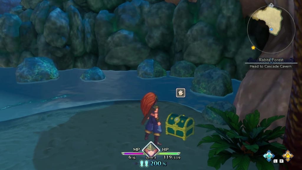 Trials of Mana - Chapter 1: Rabite Forest - Chest Location 1
