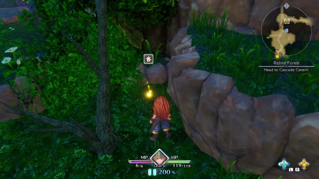 Trials of Mana - Chapter 1: Rabite Forest - Orb Location 3