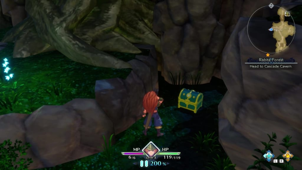 Trials of Mana - Chapter 1: Rabite Forest - Chest Location 2