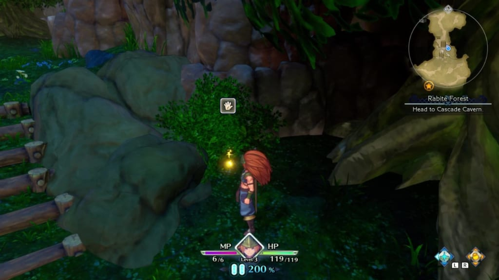 Trials of Mana - Chapter 1: Rabite Forest - Orb Location 4