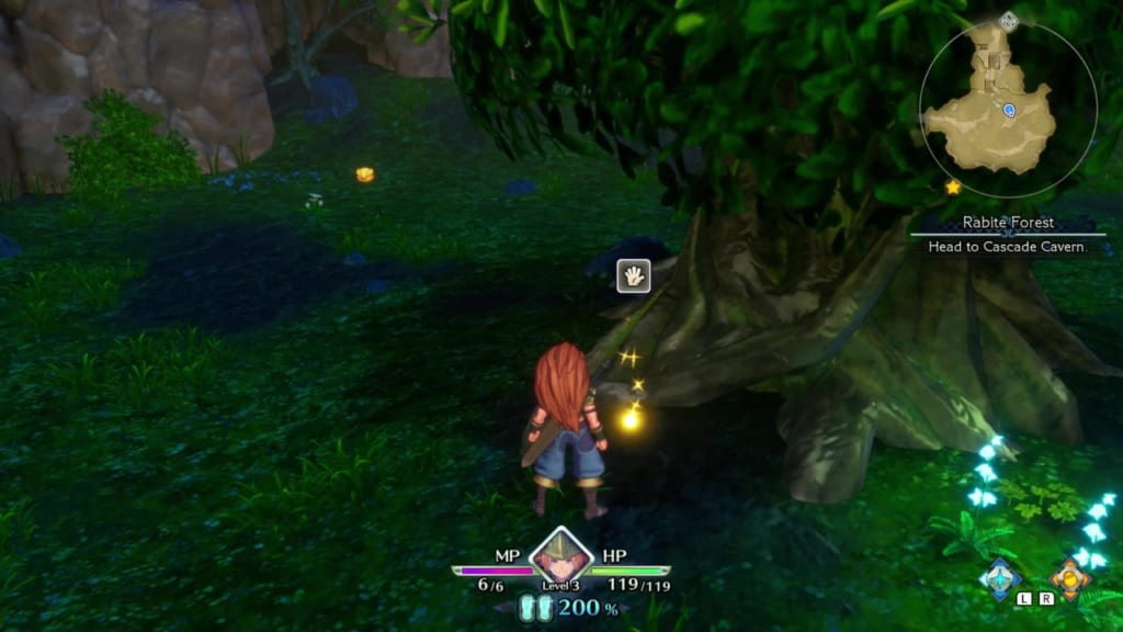 Trials of Mana - Chapter 1: Rabite Forest - Orb Location 5