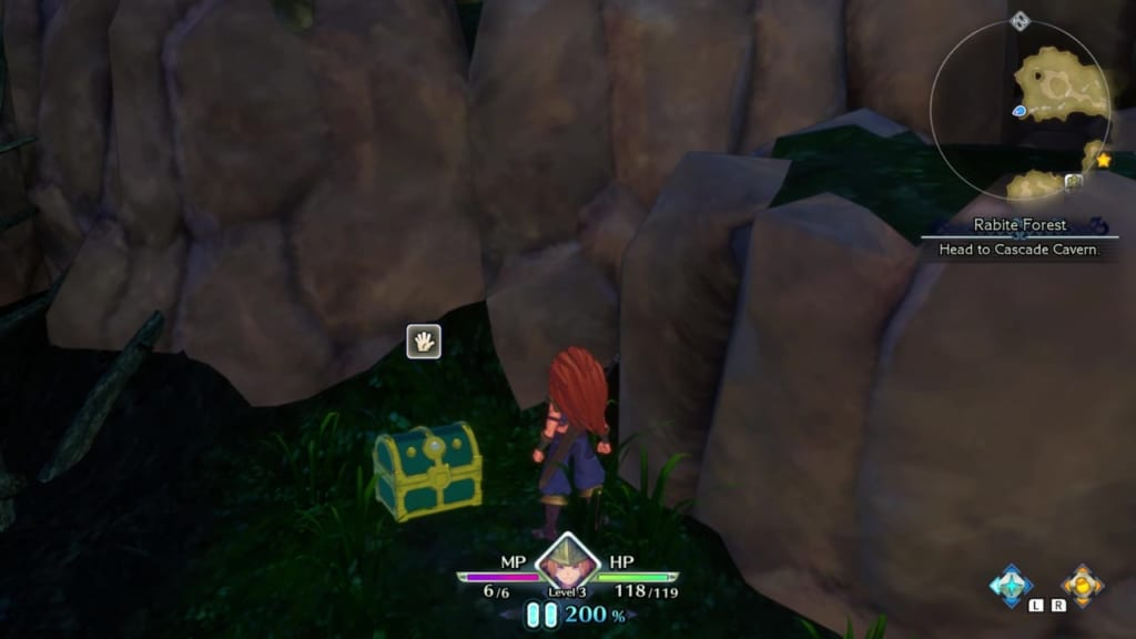 Trials of Mana - Chapter 1: Rabite Forest - Chest Location 4