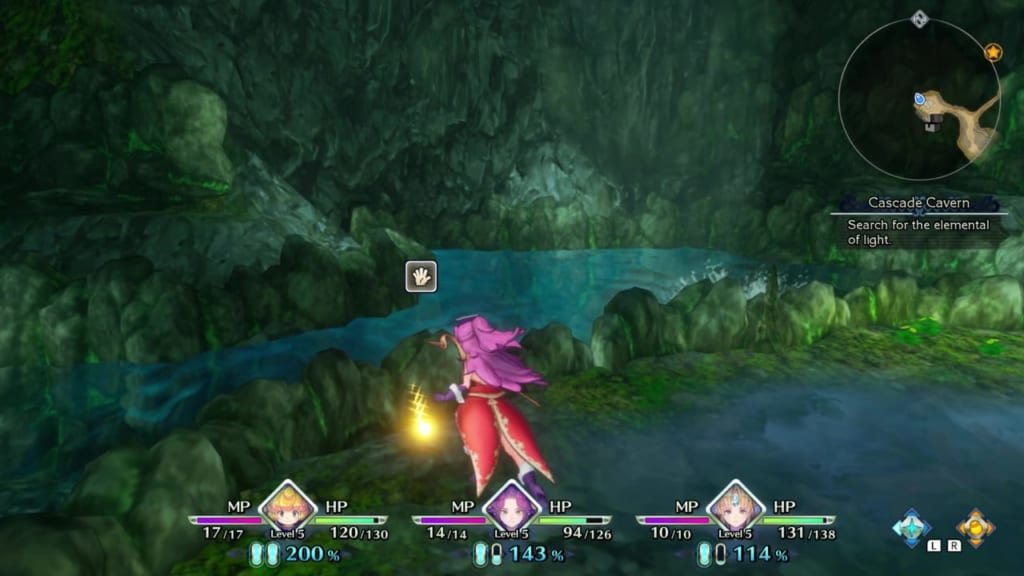 Trials of Mana - Chapter 1: Cascade Cavern Revisited - Orb Location 4