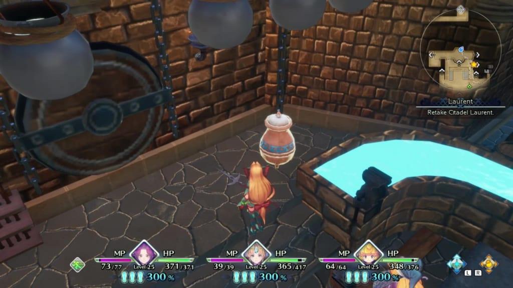 Trials of Mana - Chapter 2: Citadel of Laurent - Vase Location 1